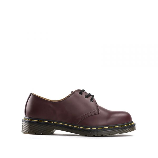 DR. MARTENS Stringata donna bordeaux in pelle