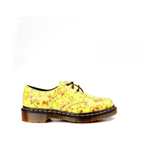 DR. MARTENS Stringata donna  gialla con fiori
