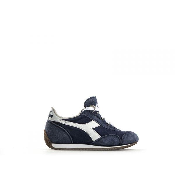 DIADORA HERITAGE Sneaker bimbo blu in suede