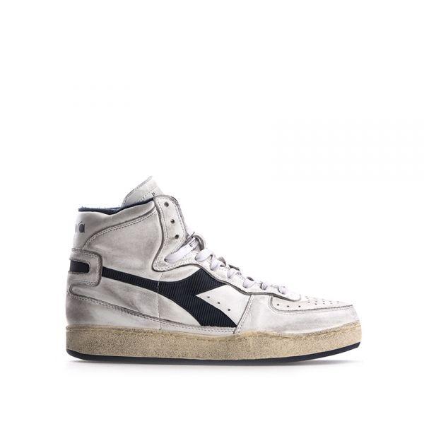 DIADORA HERITAGE Sneaker uomo bianca/blu in pelle