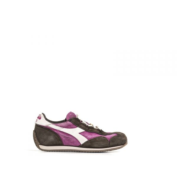 DIADORA HERITAGE EQUIPE Sneaker bimbo marrone/viola in pelle