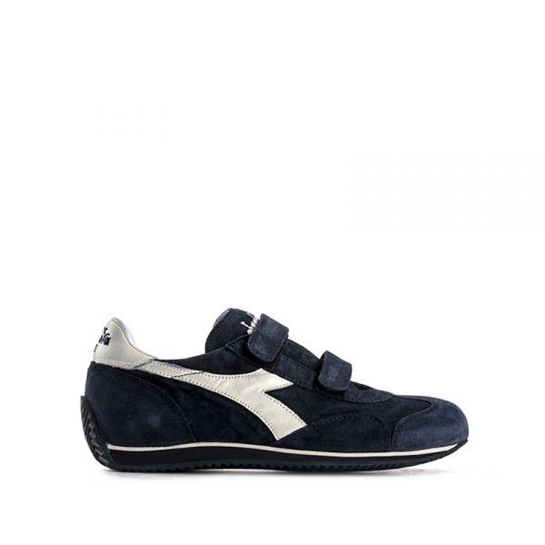 DIADORA HERITAGE EQUIPE Sneaker ragazzo blu in suede