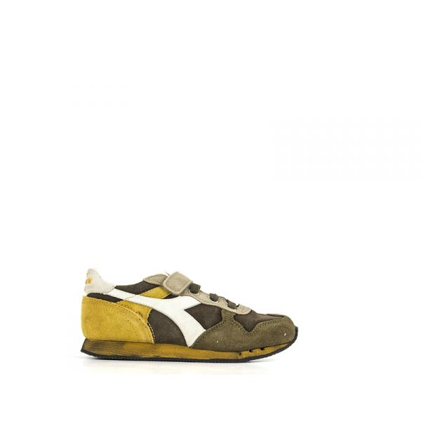 DIADORA HERITAGE TRIDENT Sneaker bimbo verde/marrone