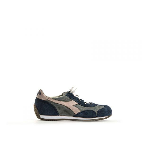 DIADORA HERITAGE Sneaker bimba blu/rosa in pelle