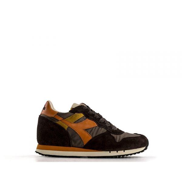 DIADORA HERITAGE TRIDENT Sneaker donna marrone/arancio