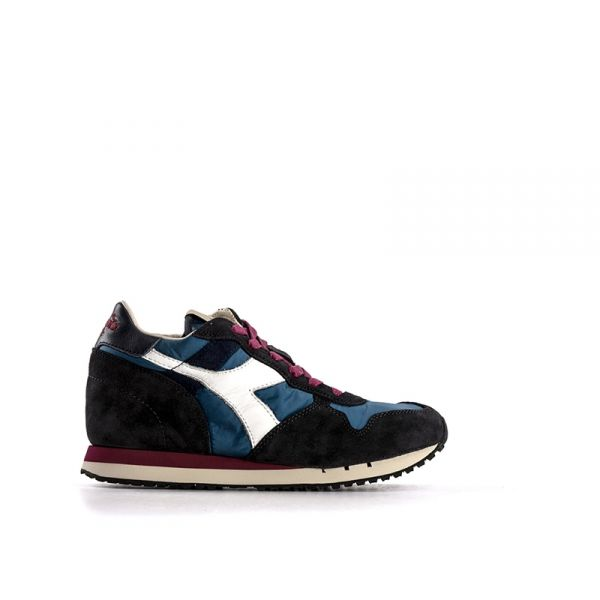 DIADORA HERITAGE TRIDENT Sneaker donna marrone/blu