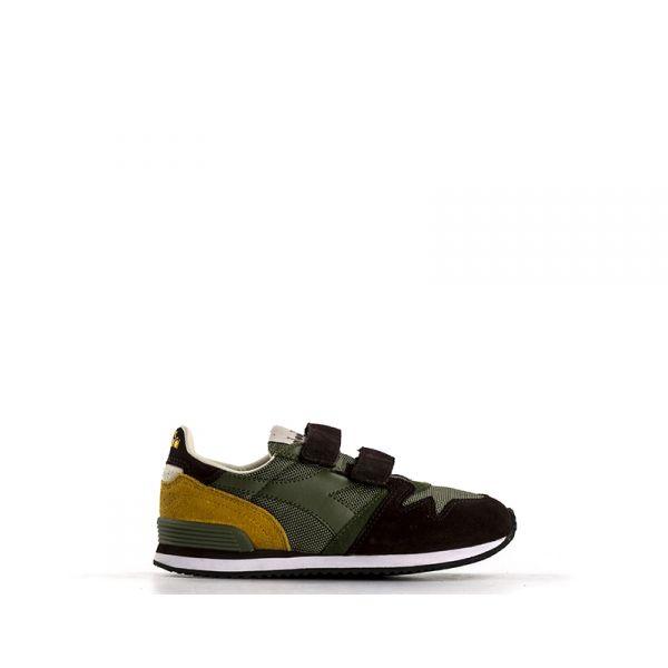 DIADORA HERITAGE EXODUS Sneaker bimbo verde/nera in suede