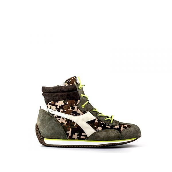 DIADORA HERITAGE EQUIPE Sneaker ragazzo marrone/verde