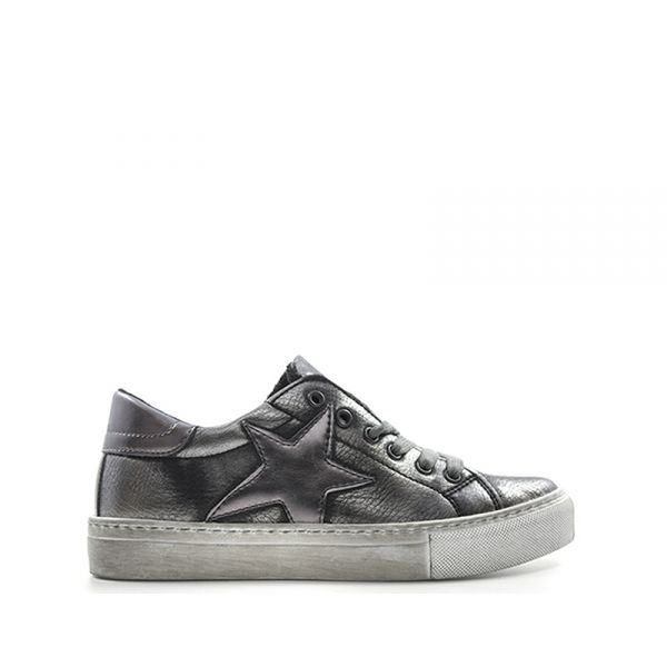 EASY PEASY Sneaker donna grigia/argento in pelle