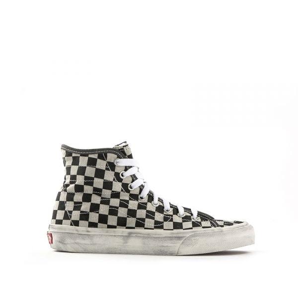VANS SK8-HI DECON Sneaker donna in tessuto stampa scacchi
