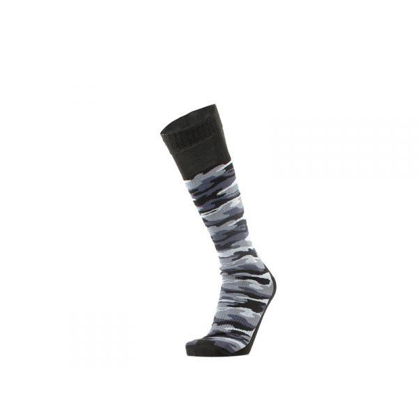 GM Calzino unisex nero/grigio lungo