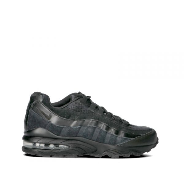 NIKE AIR MAX '95 Sneaker ragazzo nera in pelle e tessuto