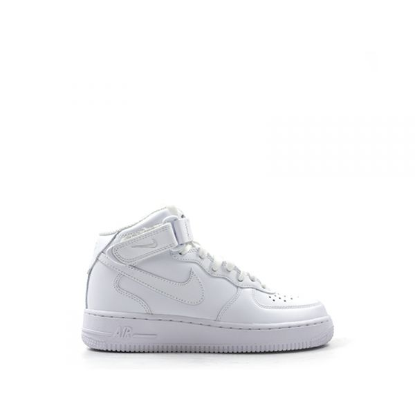 NIKE AIR FORCE 1 MID Sneaker uomo bianca in pelle