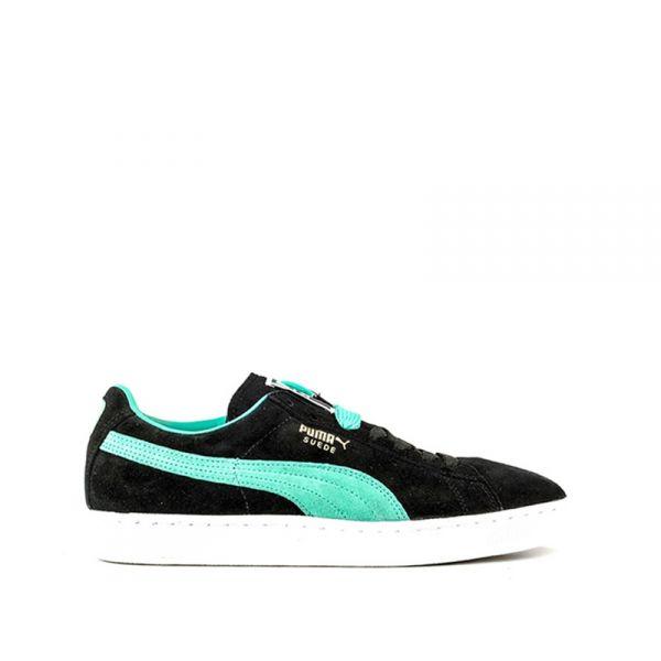 PUMA Sneaker uomo/nera azzurra in suede