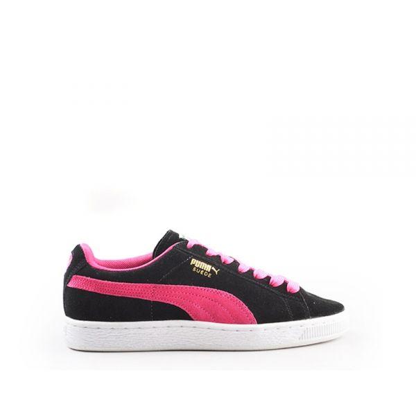 PUMA Sneaker donna nera/fucsia in suede