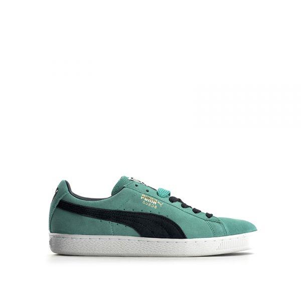 PUMA Sneaker uomo verde acqua/grigia in suede