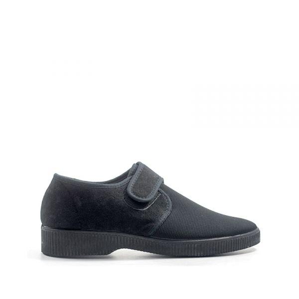 MENHIR Pantofola uomo nera in tessuto
