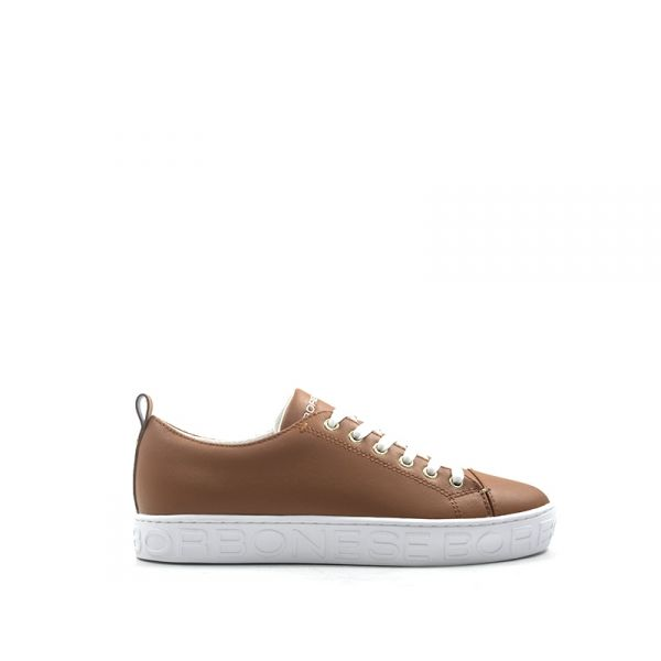 BORBONESE Sneaker donna marrone in pelle