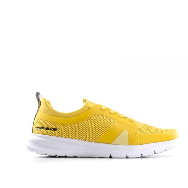 PANTONE Sneaker uomo gialla in tessuto