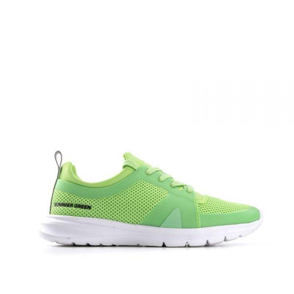 PANTONE Sneaker donna verde fluo in tessuto