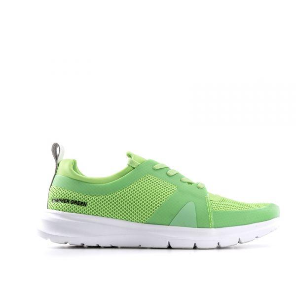 PANTONE Sneaker uomo verde fluo in tessuto