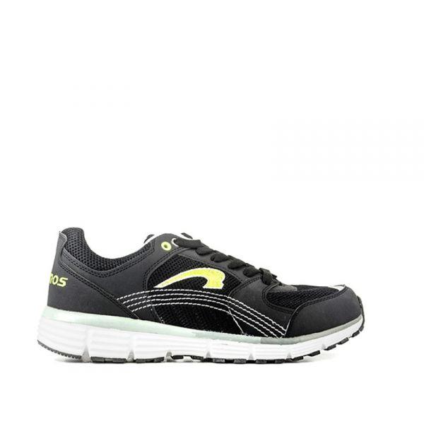 KRONOS Sneaker uomo nera/gialla in tessuto