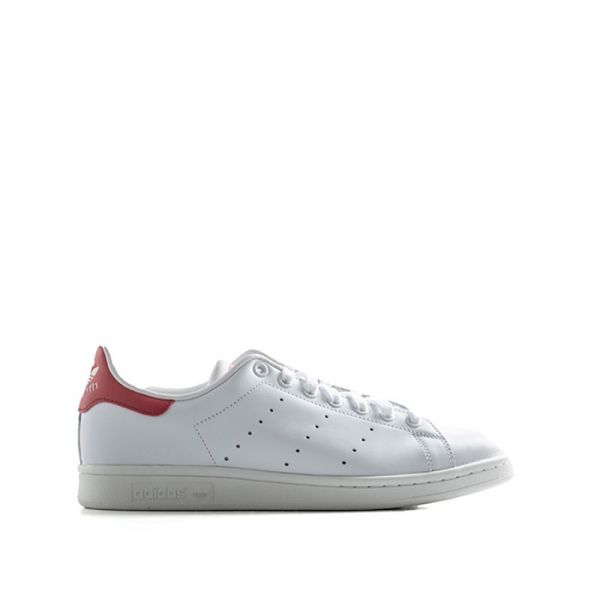 ADIDAS STAN STAN SMITH Sneaker uomo bianca/rossa in pelle