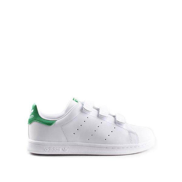 ADIDAS STAN SMITH Sneaker bimbo bianca/verde in pelle