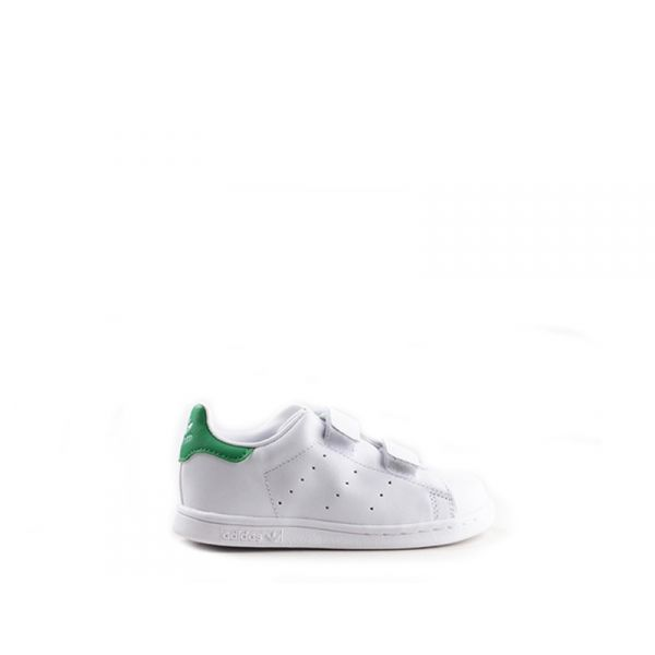 ADIDAS STAN SMITH Sneakers bambino bianco/verde in pelle