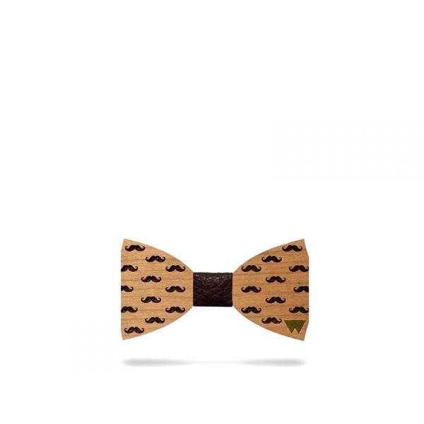WOODILLON Papillon mustaff in legno