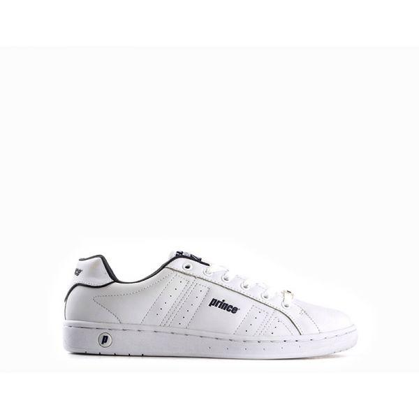 PRINCE Sneaker uomo bianca/blu in similpelle