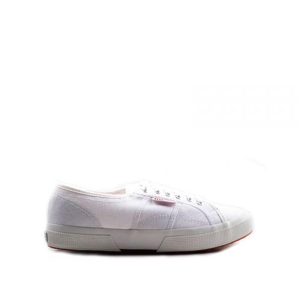 SUPERGA Sneaker uomo bianca in tessuto