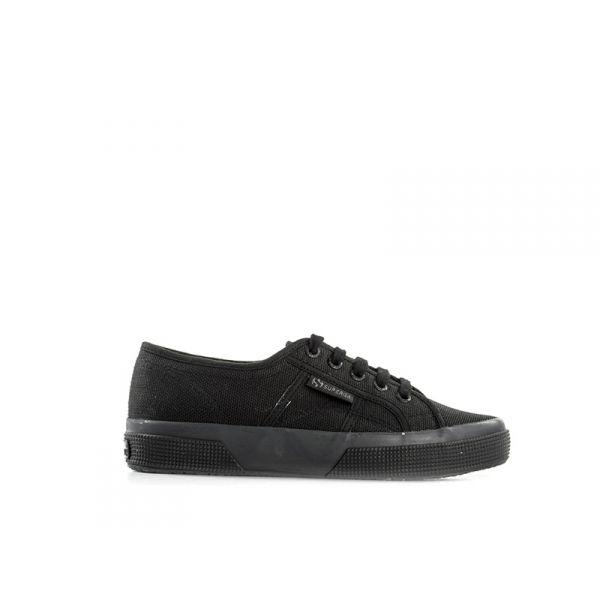 SUPERGA 2750 Sneaker trendy donna nera in tessuto