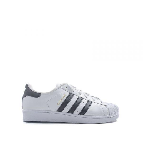 ADIDAS SUPERSTAR Sneaker donna bianca/nera in pelle
