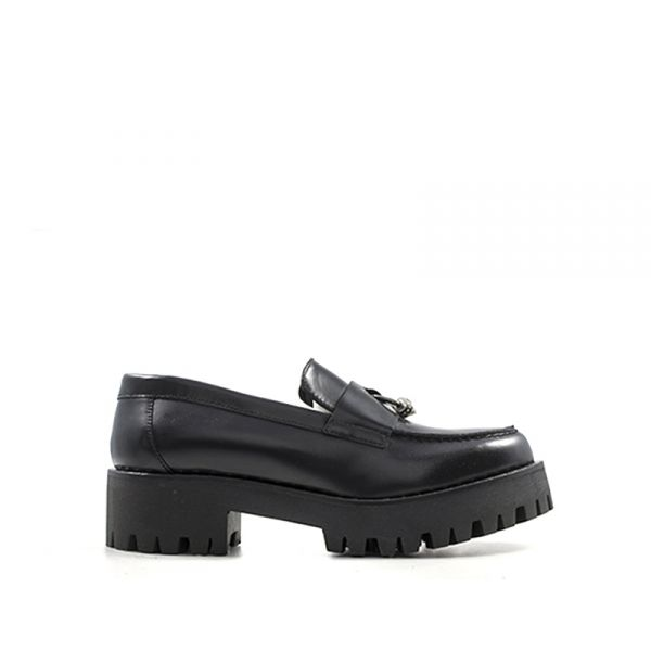 CULT Mocassino donna nero in pelle