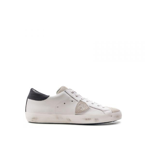 PHILIPPE MODEL PARIS Sneaker uomo bianca grigia in pelle 2631438aff2