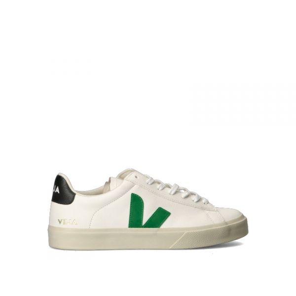 VEJA Sneakers uomo bianca/verde in pelle