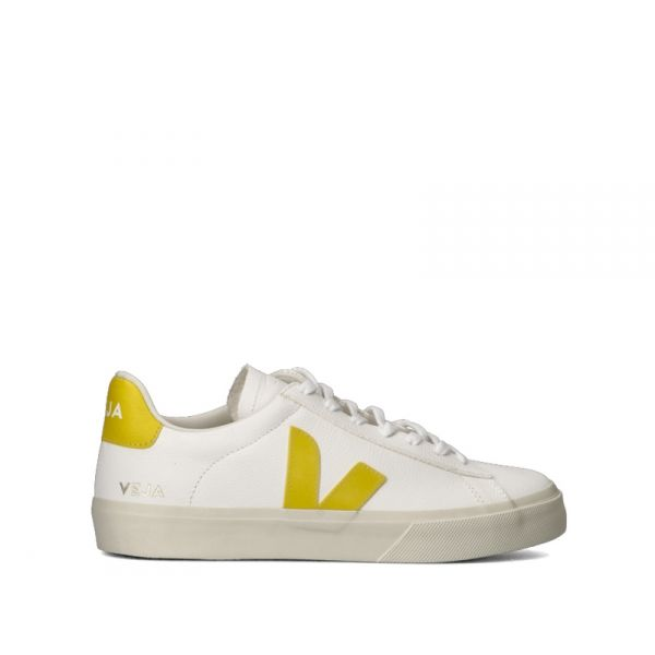 VEJA Sneakers uomo bianca/ocra in pelle