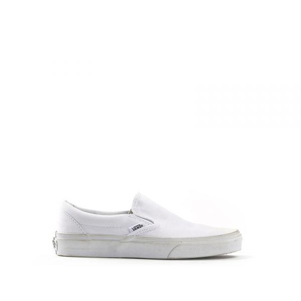 VANS SLIP ON Sneaker donna bianca in tessuto