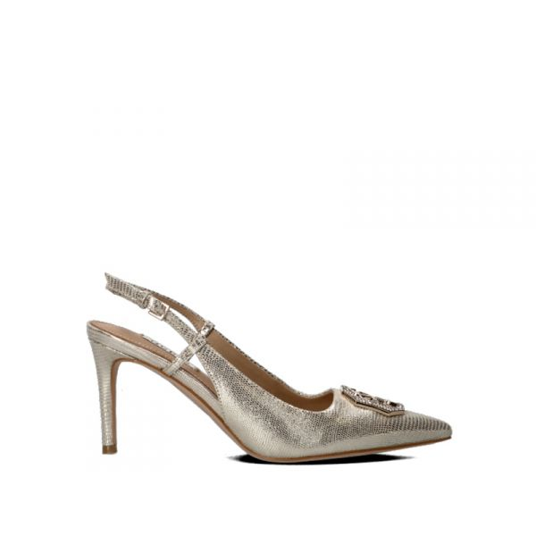 GUESS Slingback donna platino in pelle