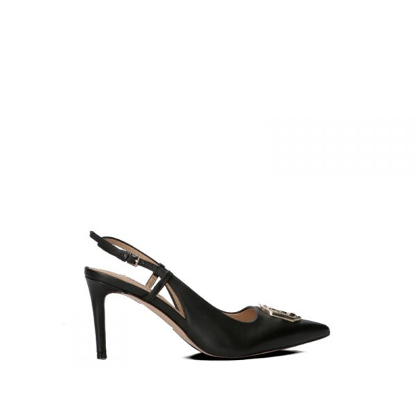 GUESS Slingback donna nera in pelle