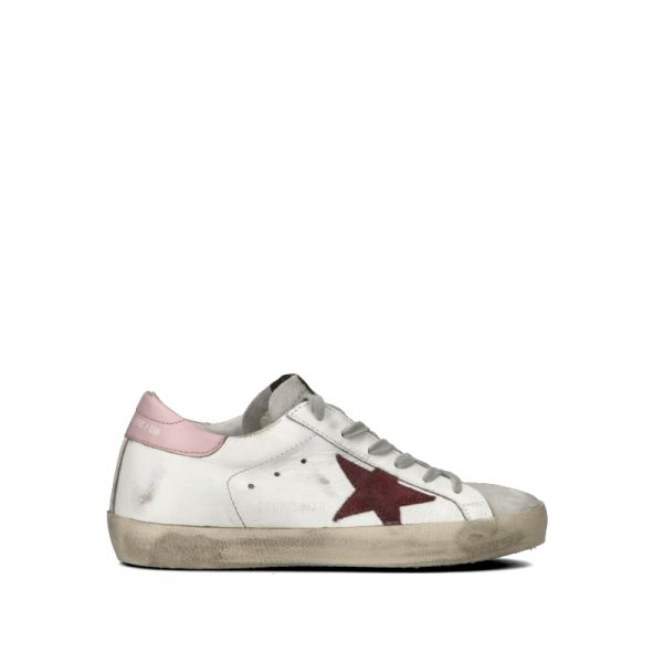 official photos bfc05 35f53 golden goose sneaker donna bianca/rosa pelle bianco