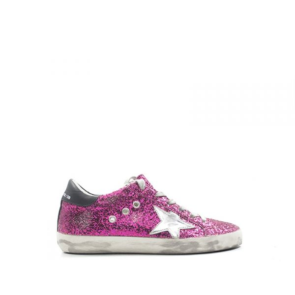 GOLDEN GOOSE SUPERSTAR Sneaker donna rosa in pelle