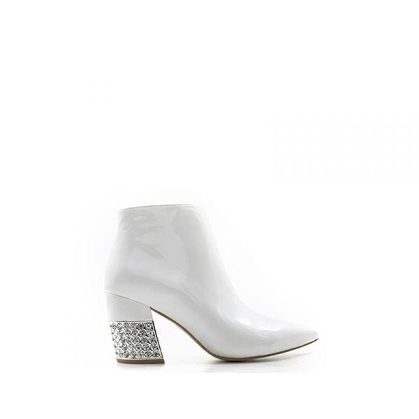 JEFFREY CAMPBELL Tronchetto donna bianco in pelle