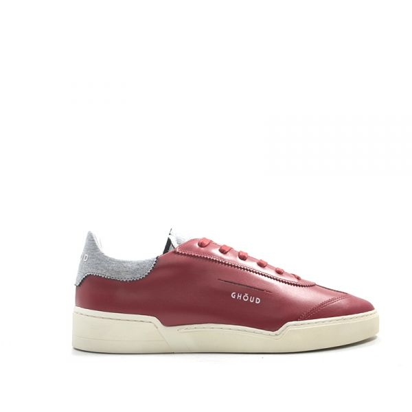 GHŌUD Sneaker uomo rossa/grigia in pelle e tessuto