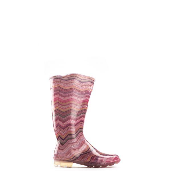 G&G Stivale di gomma donna rosa a righe