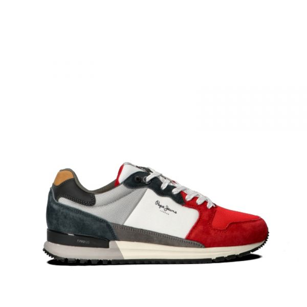 PEPE JEANS Sneakers uomo bianca/rossa