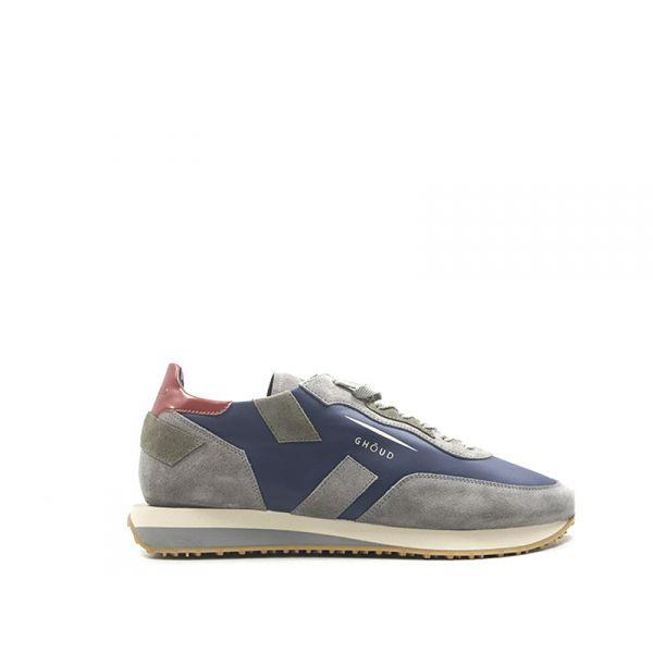 GHŌUD Sneaker uomo blu/grigia in suede e pelle