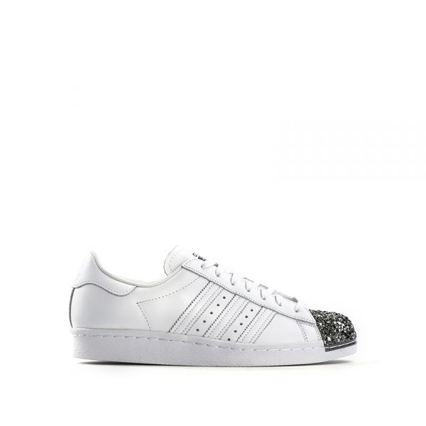 pretty nice c99da d465b ADIDAS SUPERSTAR Sneaker donna bianca in pelle punta metallo