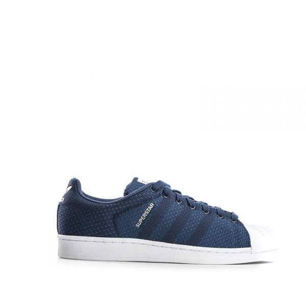 ADIDAS SUPERSTAR Sneaker uomo blu in tessuto